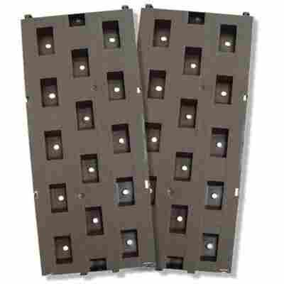 Beetplatten braun 21 x 50 cm 5 Stück