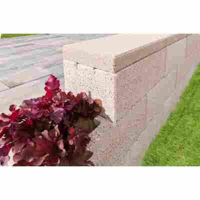 Mauerabdeckung 'T-Wall Trend Eco' 225 x 50 x 450 mm sandsteinfarben