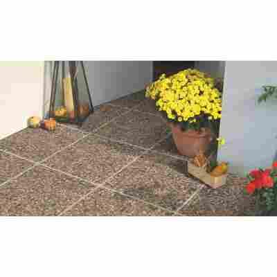 Terrassenplatte 400 x 40 x 400 mm braun/bunt
