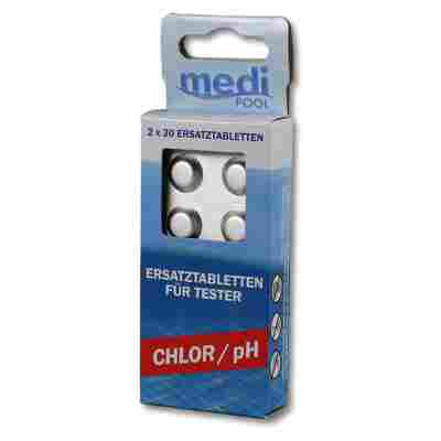 Wasseranalysetabletten Chlor/PH 60 Stück