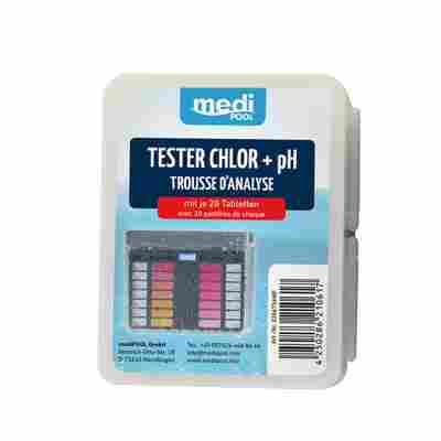 Wasseranalysetabletten für Chlor- und pH-Tester, 40-teilig