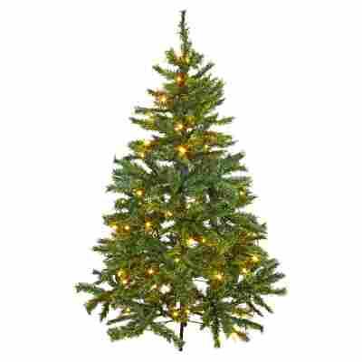 Künstlicher Tannenbaum grün 150 cm, mit LED-Beleuchtung