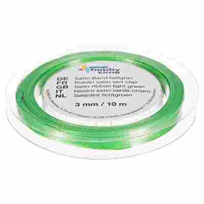 "Satinband ""hobby time"" Polyester hellgrün 1000 x 0,3 cm"