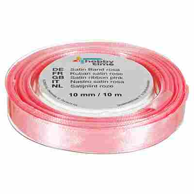 "Satinband ""hobby time"" Polyester rosa 1000 x 1 cm"