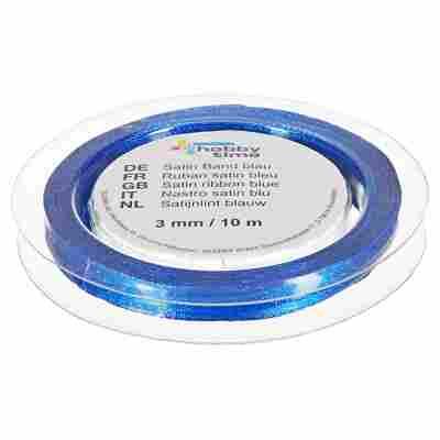 "Satinband ""hobby time"" Polyester dunkelblau 1000 x 0,3 cm"