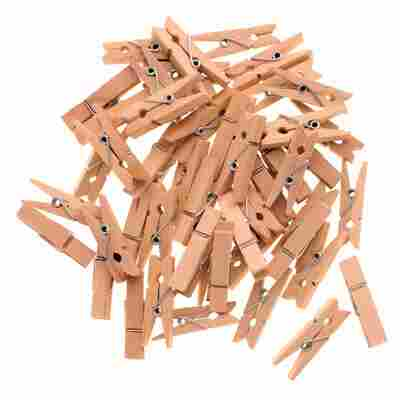 Wäscheklammern Holz natur 3,5 cm 48 Stück