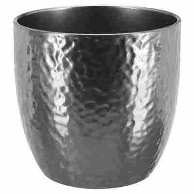 "Übertopf ""Boston"" Keramik silbern Ø 16 cm"