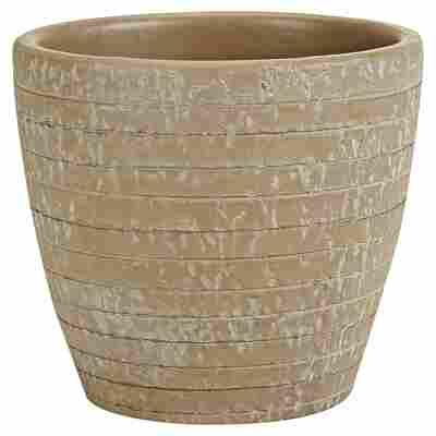 """Übertopf """"Porto"""" Keramik braun Ø 14 cm"""