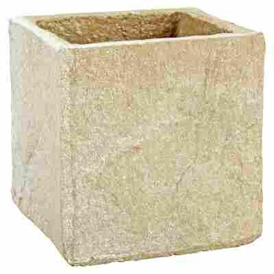 """Pflanzkübel """"Spa"""" sand 9 x 9 cm"""