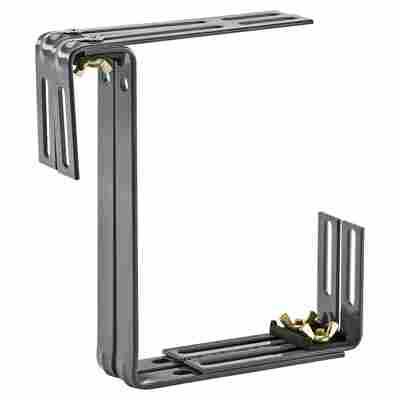Balkonkastenhalter Typ D Stahl anthrazit 2 Stück