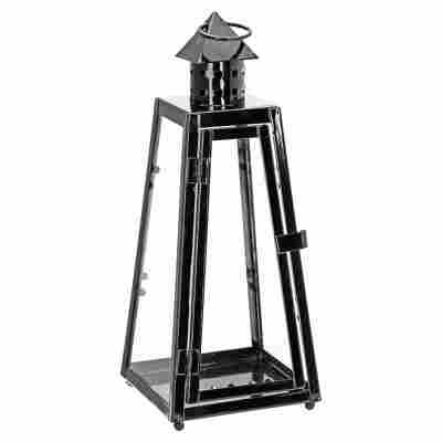 Laterne 'Pyramide' Metall schwarz 30 cm