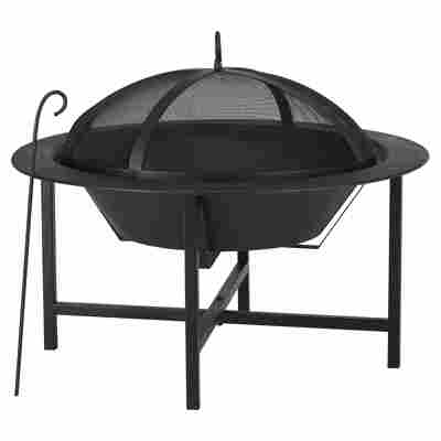 Feuerkorb mit Deckel Stahl schwarz Ø 70 x 58 cm