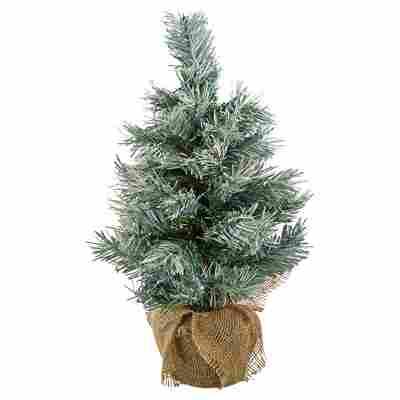 Künstlicher Mini-Tannenbaum grün gefrostet 45 cm