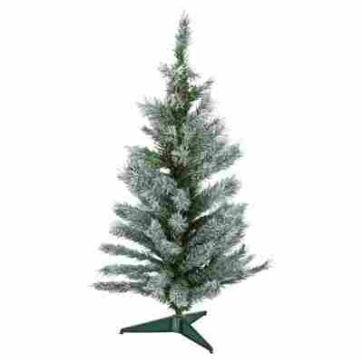 Künstlicher Mini-Tannenbaum grün gefrostet 90 cm