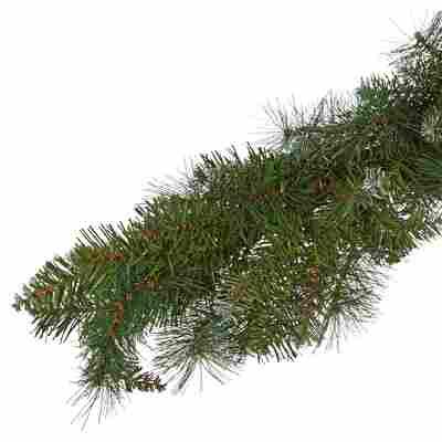 Künstliche Tannengirlande grün/weiß gefrostet 270 cm
