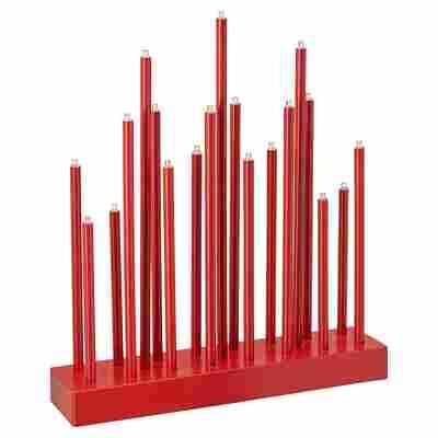 Stableuchter rot 19 LEDs, 25 x 6 x 28,5 cm