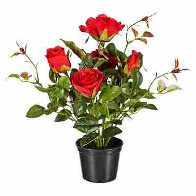 Kunstblume Rose rot 34 cm