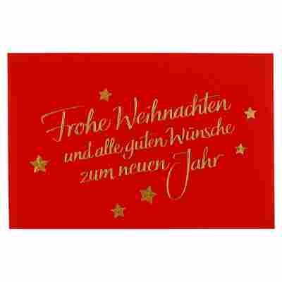Weihnachts-Geschenkumschlag rot