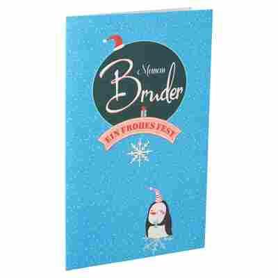 Weihnachtskarte 'Bruder' blau mit Umschlag