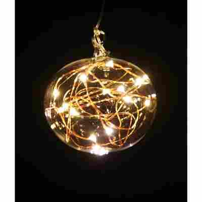 LED-Christbaumkugel 'Light Ball M' gelb Ø 8 x 6,5 cm
