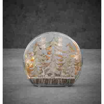 LED-Dekokugel 'Winterwald' warmweiß 25 x 6 x 22 cm