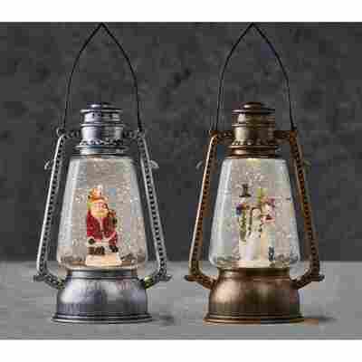 LED-Wasserlaterne 2 Farben sortiert 15,5 x 11 x 24 cm