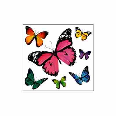 Schmetterling-Sticker mit Glimmer 1 Bogen