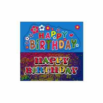 Happy Birthday Sticker 2 Bogen