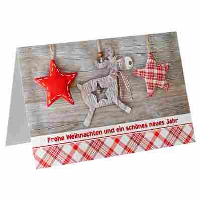 Weihnachtskarte mehrfarbig sortiert mit Umschlag