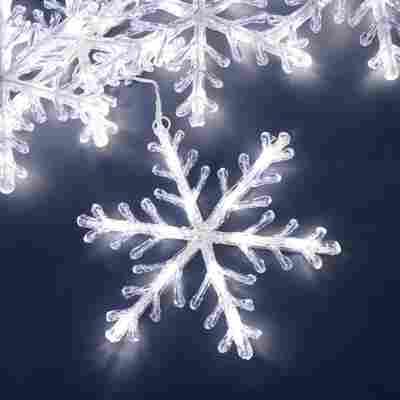 LED-Lichtervorhang 'Schneeflocken' 60 LEDs kaltweiß 400 cm