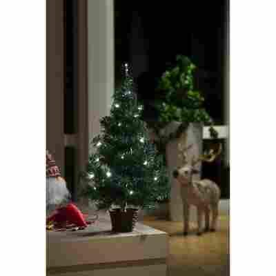 Künstlicher LED-Tannenbaum im Topf grün 60 cm