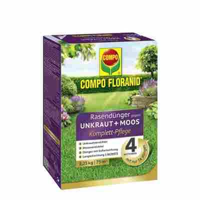 Floranid Rasendünger gegen Unkraut + Moos Komplettpflege 2,25 kg