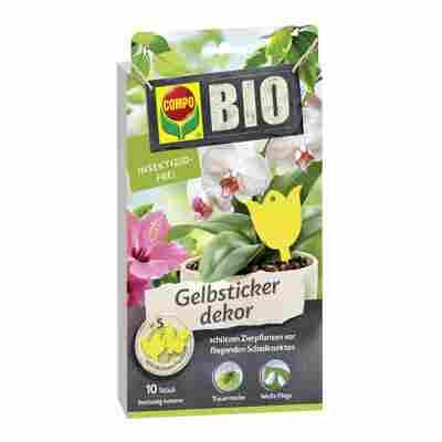 Bio-Gelbsticker mit Dekor 10 Stück
