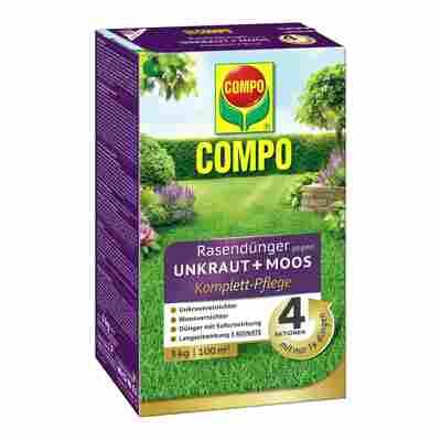 COMPO Rasendünger gegen Unkraut + Moos Komplettpflege 3 kg