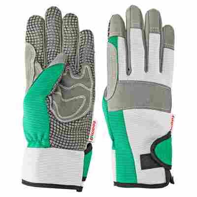 Gärtnerhandschuh grau/grün Gr. 8