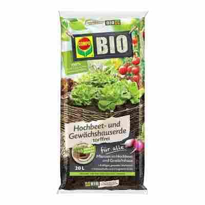 BIO Hochbeet- und Gewächshauserde torffrei 20 l