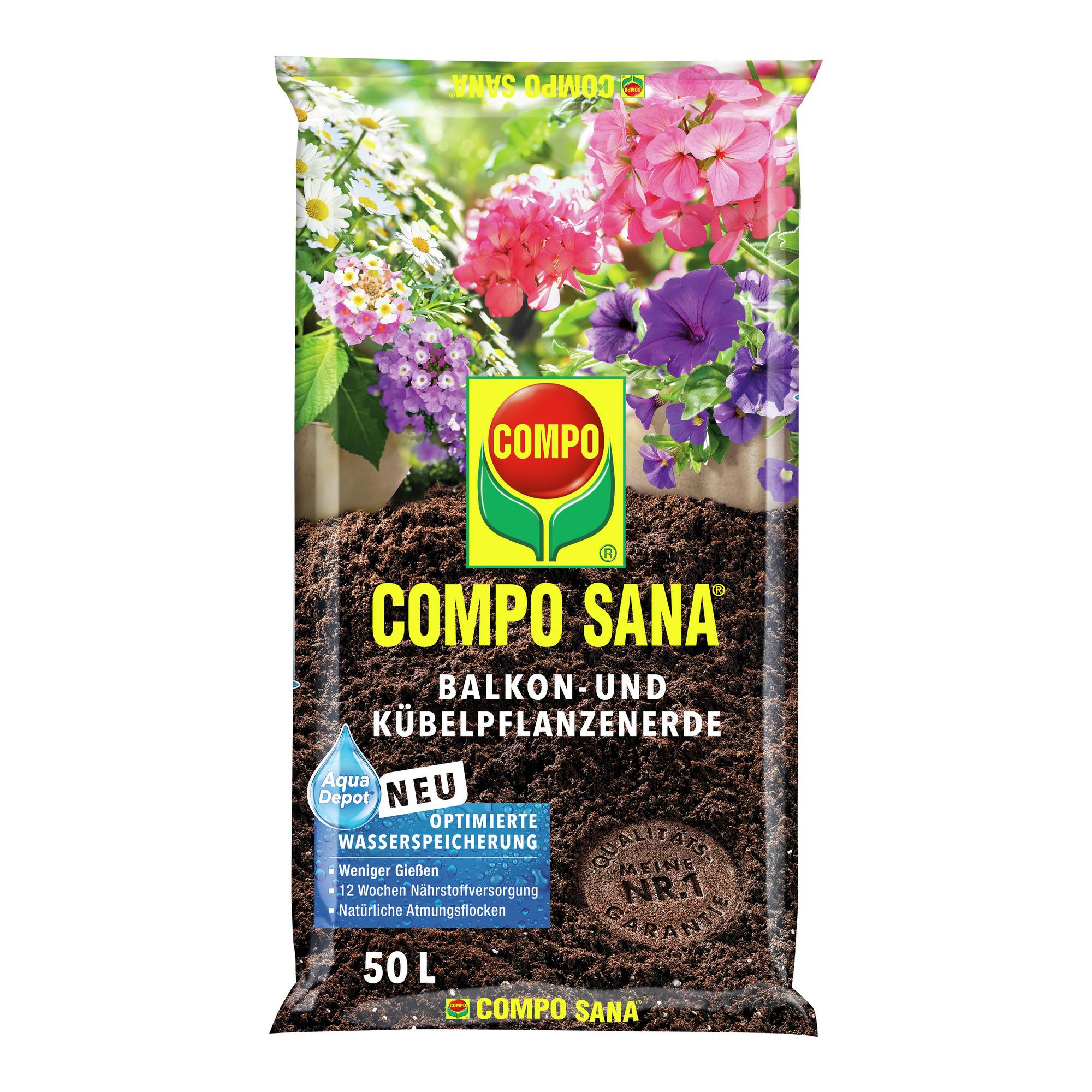 Balkon- und Kübelpflanzerde 'Compo Sana' 50 l