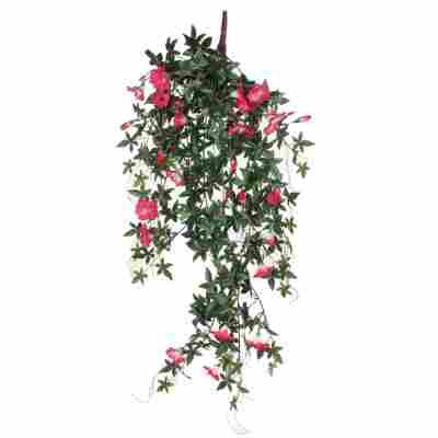 Kunstpflanze Petunie, pink hängend 80 cm