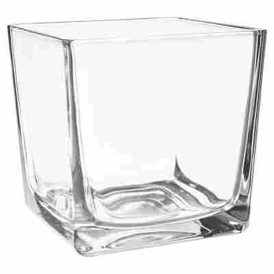 """Windlicht """"Eckard"""" Glas transparent 14 x 14 cm"""