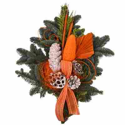 Grabstrauß orange 60 x 40 cm