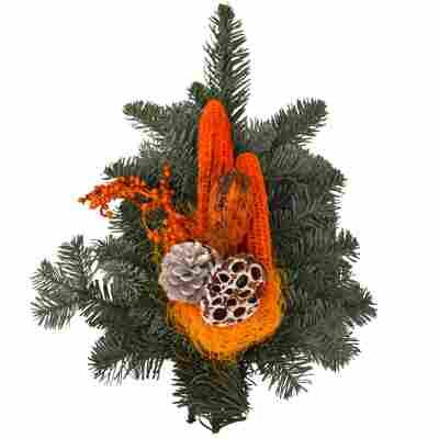 Grabstrauß orange 40 x 25 cm