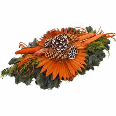 Grab-Doppelstrauß orange 90 x 60 cm
