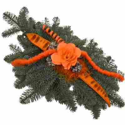 Grab-Doppelstrauß orange 50 x 35 cm