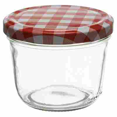 Sturzglas Ø 82 mm konisch rot/weiß 230 ml
