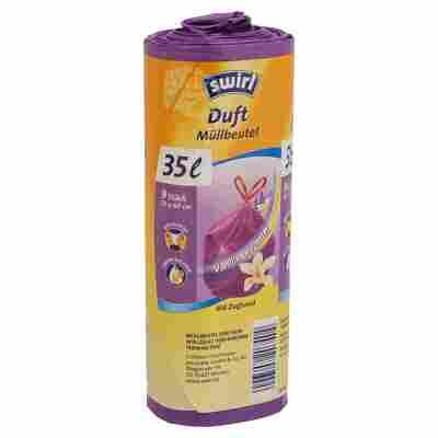 Duftmüllbeutel Vanille-Lavendel mit Zugband 35 l 9 Stück