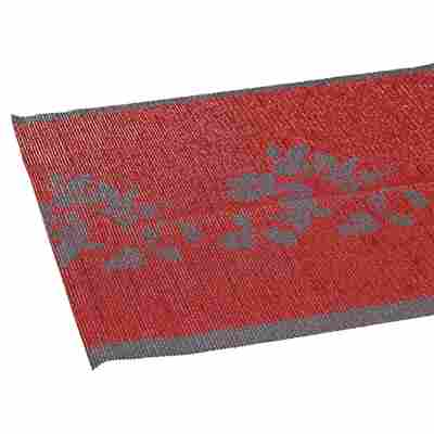 Tischläufer PVC Ranke rot 150 x 40 cm