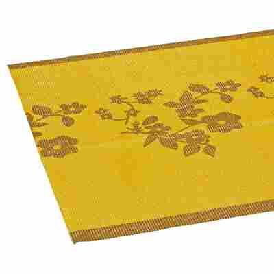 Tischläufer PVC Ranken gelb 150 x 40 cm