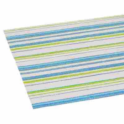 Tischläufer PVC Streifen weiß/blau/grün 150 x 40 cm