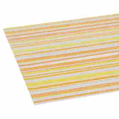 Tischläufer PVC Streifen gelb/weiß/orange 150 x 40 cm