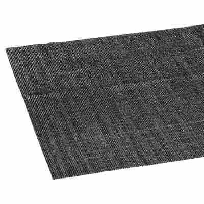 Tischläufer PVC Metallic schwarz/silbern 150 x 40 cm